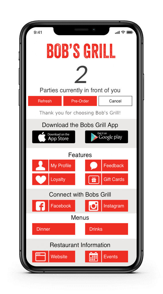 customized FOH mobile app for your business